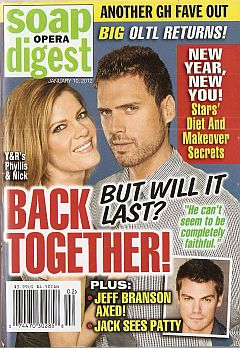 January 10, 2012 issue of Soap Opera Digest magazine