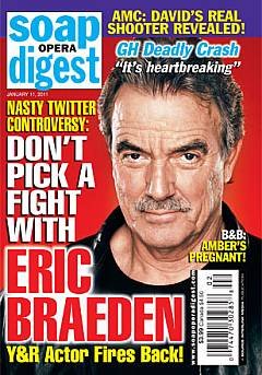 January 11, 2011 issue of Soap Opera Digest magazine featuring Eric Braeden on the cover