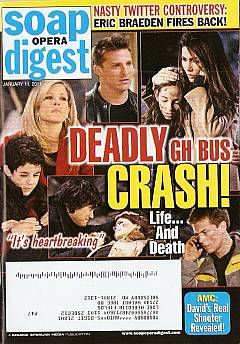 January 11, 2011 issue of Soap Opera Digest magazine featuring an Alternative Cover Story about General Hospital