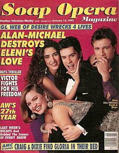 January 14, 1992 issue of Soap Opera Magazine