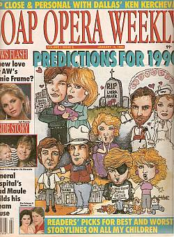 January 16, 1990 issue of Soap Opera Weekly magazine