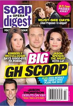 January 18, 2016 issue of Soap Opera 