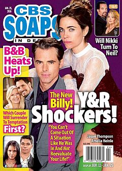 January 25, 2016 issue of CBS  Soaps In Depth magazine