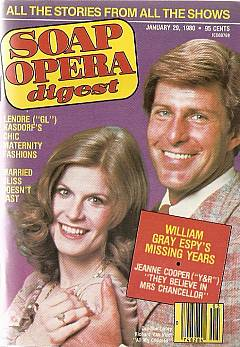 Soap Opera Digest with Candice Earley & Richard Van Vleet of All My Children on the cover