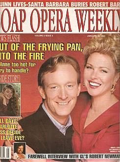 1 29 91 Soap Opera Weekly Ted Shackelford Knots Landing