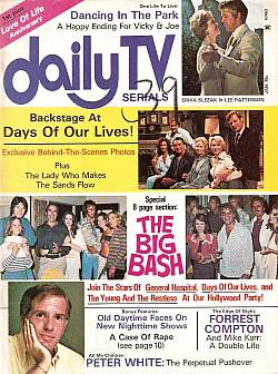 January 1975 issue of Daily TV Serials soap opera magazine
