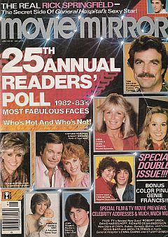 January 1983 issue of Movie Mirror magazine