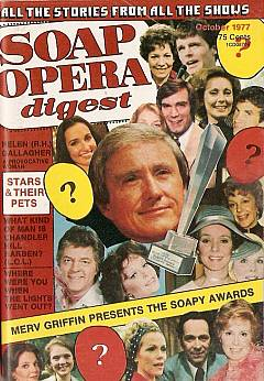Soap Opera Digest from October 1977 featuring Merv Griffin's Soapy Awards