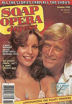 October 1978 issue of Soap Opera Digest featuring Y&R stars, Brenda Dickson & Joe LaDue, on the cover