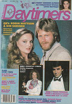 October 1982 issue of Daytimers soap opera magazine