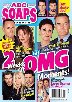 October 10, 2016 issue of ABC Soaps In Depth magazine