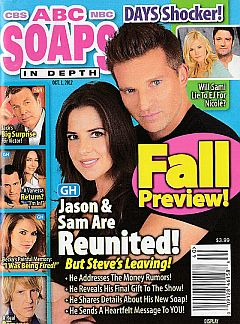 October 1, 2012 issue of ABC Soaps In Depth magazine