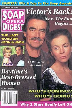Soap Opera Digest October 12, 1993