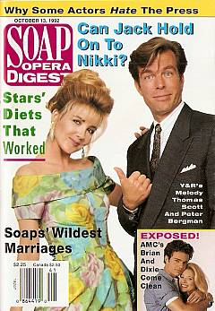 Soap Opera Digest October 13, 1992