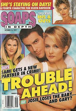 October 14, 1997 issue of NBC Soaps In Depth soap opera magazine