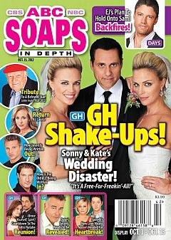 October 15, 2012 issue of ABC Soaps In Depth magazine