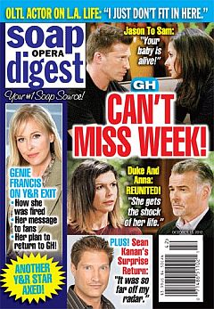 October 15, 2012 issue of Soap Opera Digest magazine