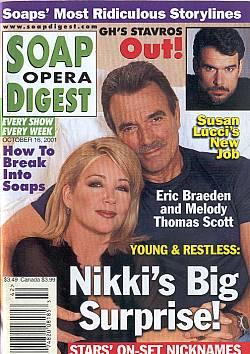 Soap Opera Digest Oct. 16, 2001