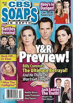 October 16, 2017 issue of CBS Soaps In Depth magazine