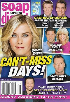 October 16, 2017 issue of Soap Opera Digest magazine