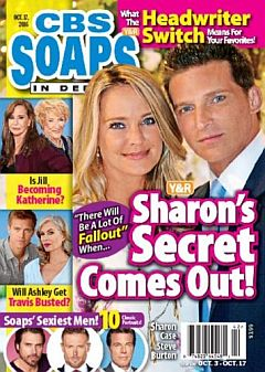 October 17, 2016 issue of CBS Soaps In Depth magazine