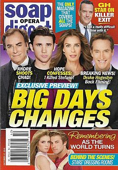 October 17, 2016 issue of Soap Opera Digest magazine