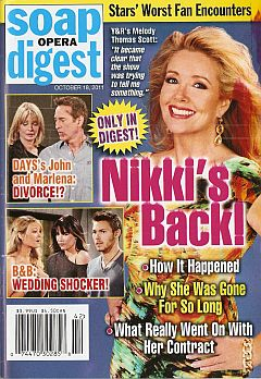 October 18, 2011 issue of Soap Opera Digest magazine