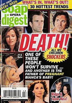 Soap Opera Digest October 21, 2008