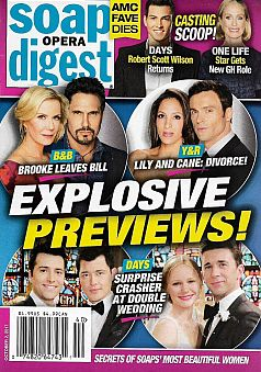 October 2, 2017 issue of Soap Opera Digest magazine