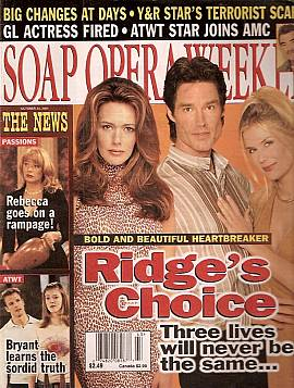Soap Opera Weekly October 23, 2001