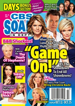 CBS Soaps In Depth from October 2010 featuring a Y&R Cover Story