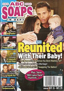 October 29, 2012 issue of ABC Soaps In Depth soap opera magazine