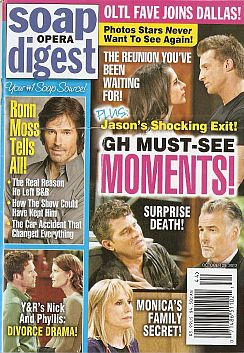 October 29, 2012 issue of Soap Opera Digest magazine