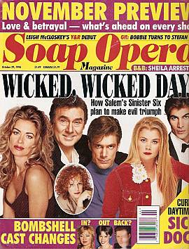 Soap Opera Magazine October 29, 1996
