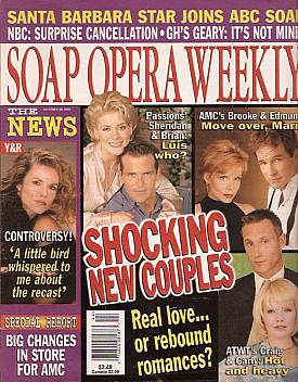 Soap Opera Weekly October 30, 2001