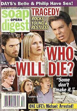 Soap Opera Digest Oct. 30, 2007