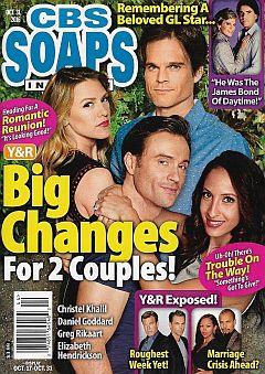 October 31, 2016 issue of CBS Soaps In Depth magazine