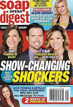October 3, 2016 issue of Soap Opera Digest magazine