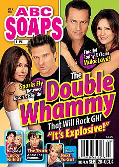 ABC Soaps In Depth from October 4, 2010 featuring the cast of General Hospital on the cover