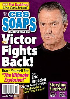 October 5, 2015 issue of CBS Soaps In Depth soap opera magazine