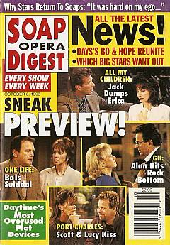 October 6, 1998 issue of Soap Opera Digest with an alternative cover