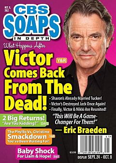 October 8, 2012 issue of CBS Soaps In Depth soap opera magazine