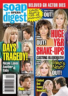 October 8, 2012 issue of Soap Opera Digest magazine