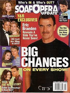Soap Opera Update October 9, 2001