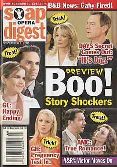 Soap Opera Digest Nov. 1, 2005