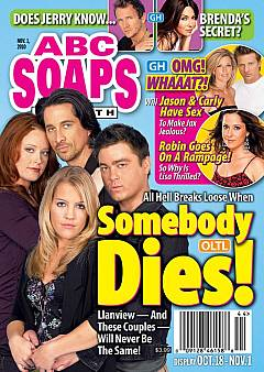 ABC Soaps In Depth dated November 1, 2010 featuring the cast of One Life To Live on the cover