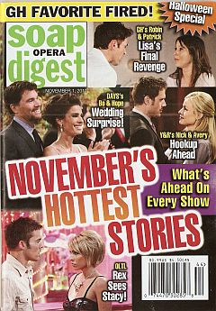 November 1, 2011 issue of Soap Opera Digest magazine