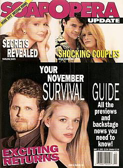 November 2, 1993 issue of Soap Opera Update magazine