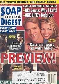 Soap Opera Digest - November 3, 1998