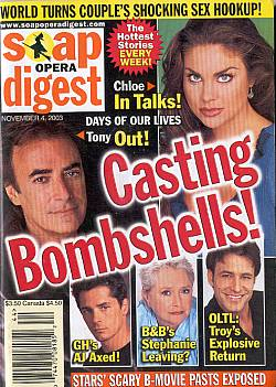 Soap Opera Digest Nov. 4, 2003